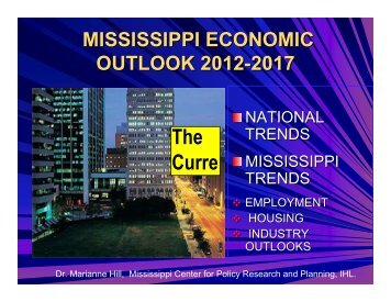 Mississippi Economic Outlook 2012-2017