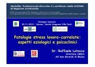 Patologie stress lavoro-correlate: aspetti eziologici e psicoclinici