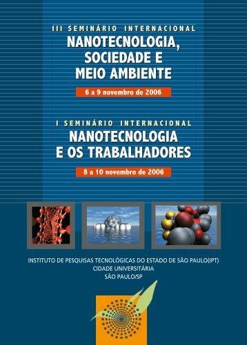 nanotecnologia, sociedade e meio ambiente nanotecnologia e os ...