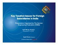 Key Taxation Issues for Foreign Subsidiaries in India - Corporate ...