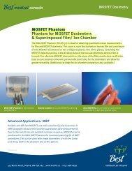MOSFET Phantom Phantom for MOSFET Dosimeters ...