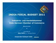 INDIA FISCAL BUDGET 2011 - Corporate Catalyst India