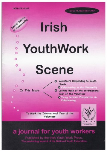 Issue 34: November 2001 - Youth Work Ireland