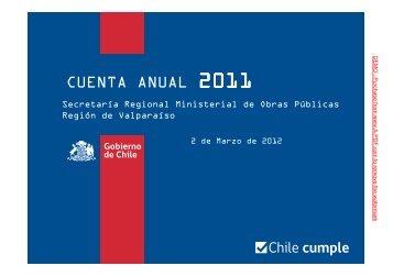 Cuenta Pública MOP Valparaíso 2011 Parte 1 (11,4 Mb. PDF)