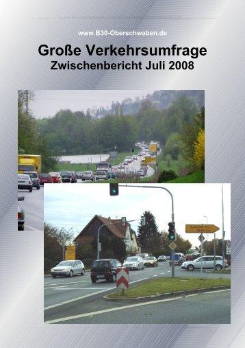 Zwischenbericht Juli 2008 - B30 Oberschwaben
