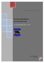 Kommunstyrelsens prioriterade mål 2011-2014 - Bjurholm kommun