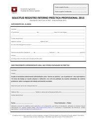 solicitud registro interno práctica profesional 2013 - facultad ...