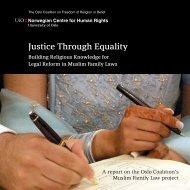 Justice Through Equality - Musawah