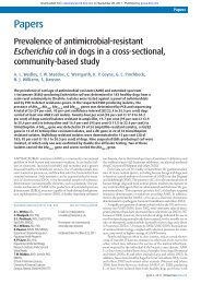 E coli resistance prevalence survey