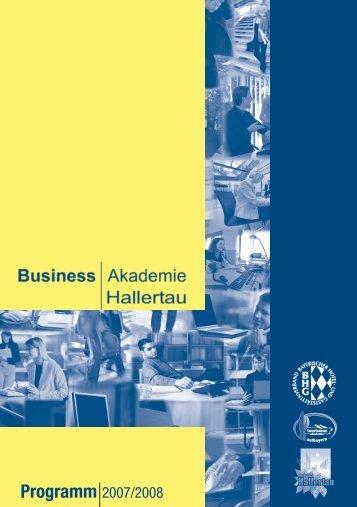 Programm 2007/2008 - Business Akademie Hallertau
