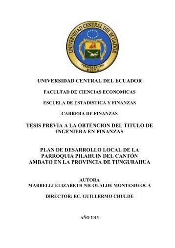 universidad central del ecuador tesis previa a la obtencion del titulo ...