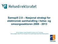 Samspill 2.0 – Nasjonal strategi for elektronisk ... - Innomed