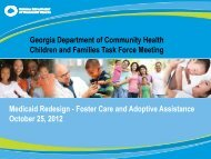 Medicaid Redesign - Foster Care and Adoptive Assistance October ...