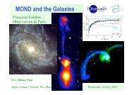 MOND and the Galaxies - Observatoire de Paris
