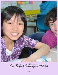 Our Budget Summary—2012-13 - Oconomowoc Area School District