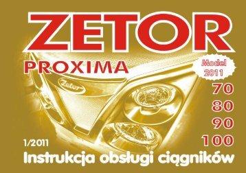 Instrukcja obsługi ciągnika Zetor Proxima 70 Model 2011 w formacie ...
