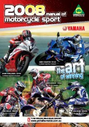 2008 Manual of Motorcycle Sport - Motorcycling Australia