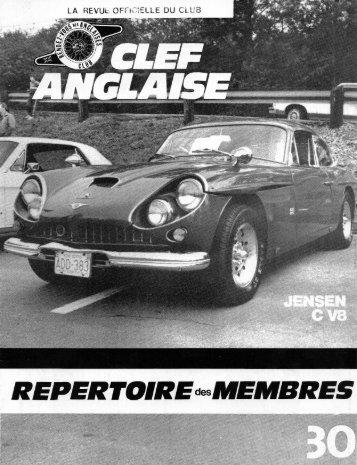 Page 1 Page 2 LA REVUE OFFICIELLE DU CLUB CLEF ANGLAISE ...