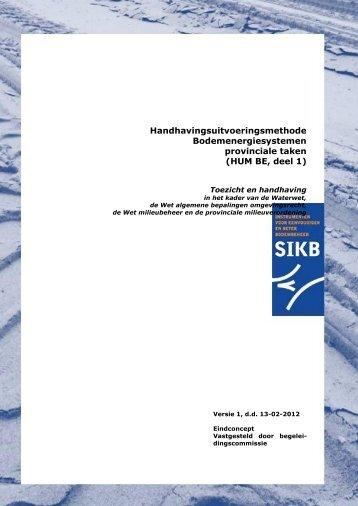 Handhavingsuitvoeringsmethoden Wet bodembescherming - SIKB