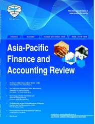 Asia-Pacific Finance and Accounting Review - Asia Pacific Institute ...
