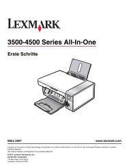 Erste Schritte - Lexmark
