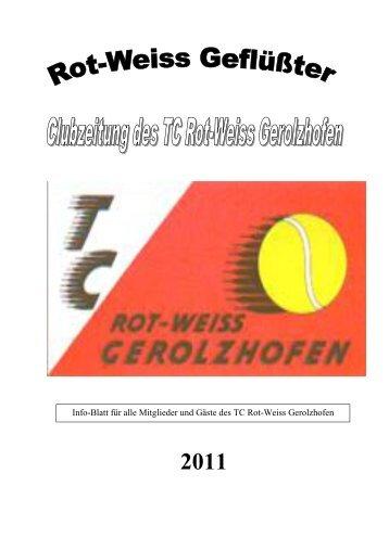 Clubzeitung 2011 - beim TC Gerolzhofen