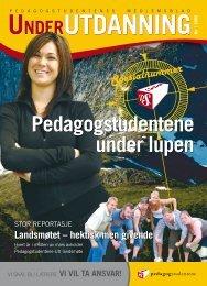 Under Utdanning 1/2006 - Pedagogstudentene