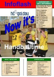 Infoflash August 2009 - Handballclub Goldau