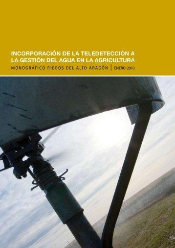 Monográfico Incorporación de la Teledetección a la Gestión del Agua