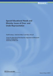 Special Educational Needs and Ethnicity - Communities and Local ...