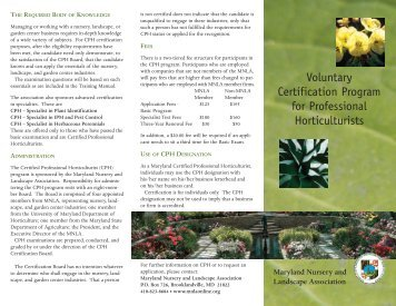 select here - Maryland Nursery and Landscape Association