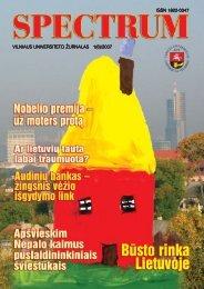 Spectrum Nr. 1(6)/2007 - VU naujienos - Vilniaus universitetas