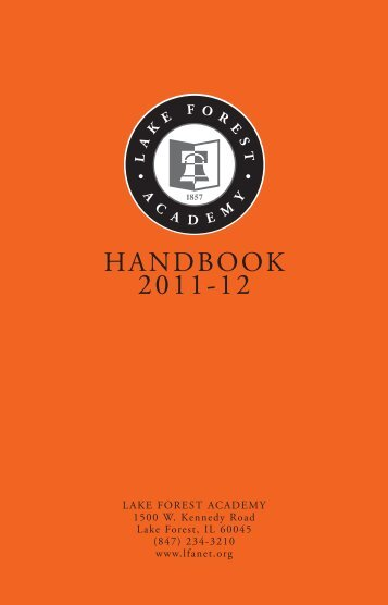 tudent Handbook 2006-07(2).qxd - Lake Forest Academy