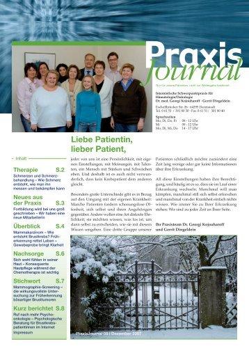 Ausgabe 8 / 2007 - Onkologische Schwerpunktpraxis Darmstadt
