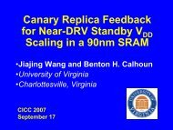 Canary Circuits Design - Robust Low Power VLSI - University of ...