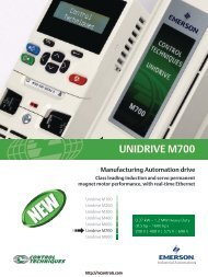 Unidrive M700 Brochure - Northern Industrial