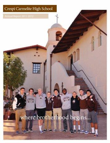 where brotherhood begins... - Crespi Carmelite High School