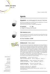 Lettre septembre 2008 - Cantina del Mulino