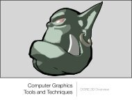 Computer Graphics Tools and Techniques