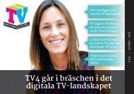 TV4 går i bräschen i det digitala TV-landskapet - TV-Nyheterna