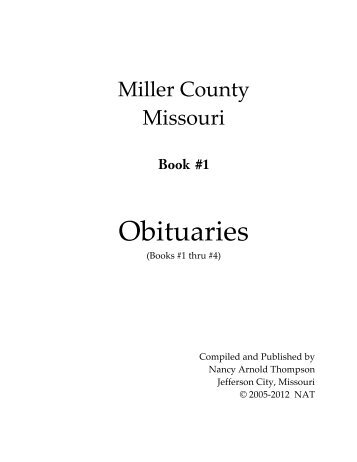 Obituaries - Miller County Museum