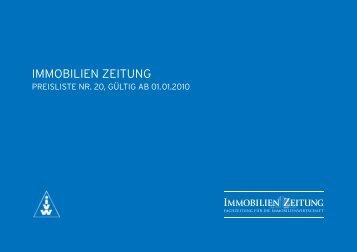 Download Mediadaten Print 2010 - Immobilien Zeitung