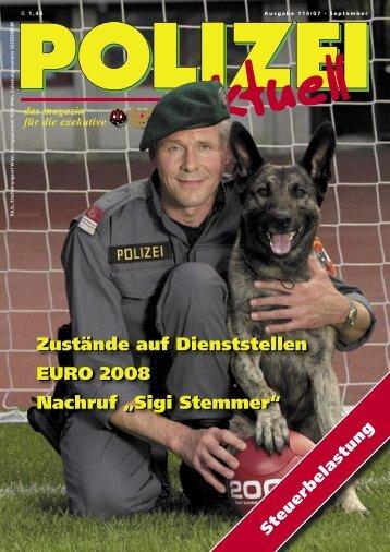 """Zustände auf Dienststellen EURO 2008 Nachruf """"Sigi Stemmer - FSG"""
