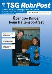 sportprogramm - TSG Heidelberg-Rohrbach