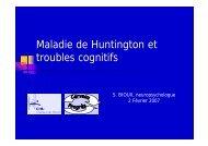 Maladie de Huntington et troubles cognitifs - CHU de Rouen
