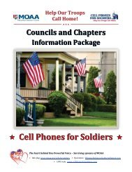 Р Cell Phones for Soldiers - Military Officers Association of America