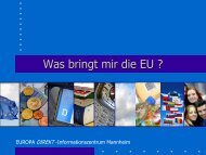 Was bringt mir die EU ?