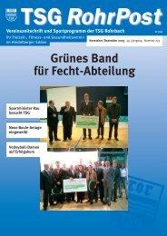 aus den abteilungen - TSG Heidelberg-Rohrbach