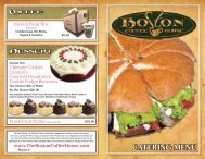 to download a copy of our Catering Menu - Boston Coffeehouse