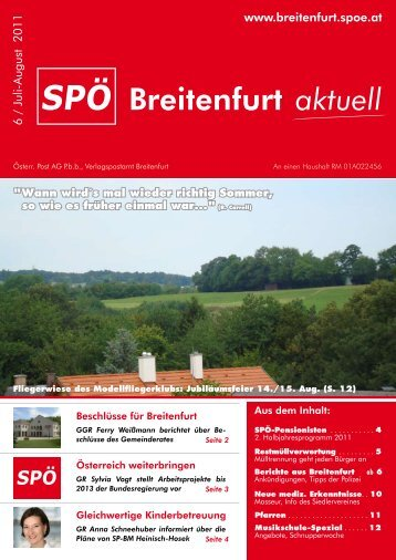 Breitenfurt aktuell - SPÖ Breitenfurt